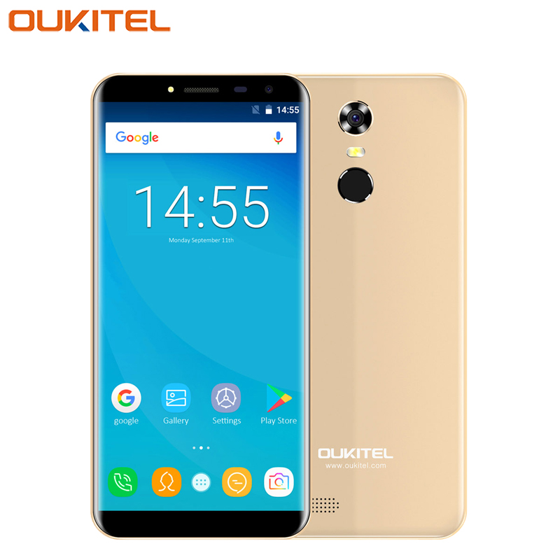 Original Oukitel C8 <font><b>Cell</b></font> <font><b>Phone</b></font> 5.5 inch Screen <font><b>2GB</b></font> <font><b>RAM</b></font> 16GB ROM Quad Core MTK6580A Android 7.0 13.0 Camera 3000mAh 4G SmartPhone