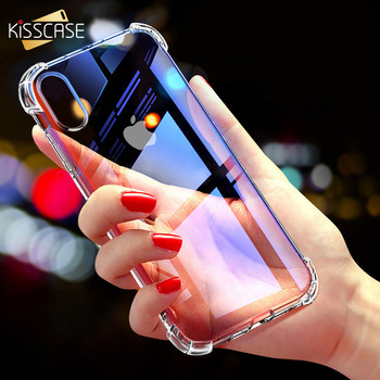 KISSCASE Case For iPhone XS XR XS Max Cover For iPhone XR XS 8 7 6S Clear Anti-knock Soft Silicone Case Transparent Shockproof
