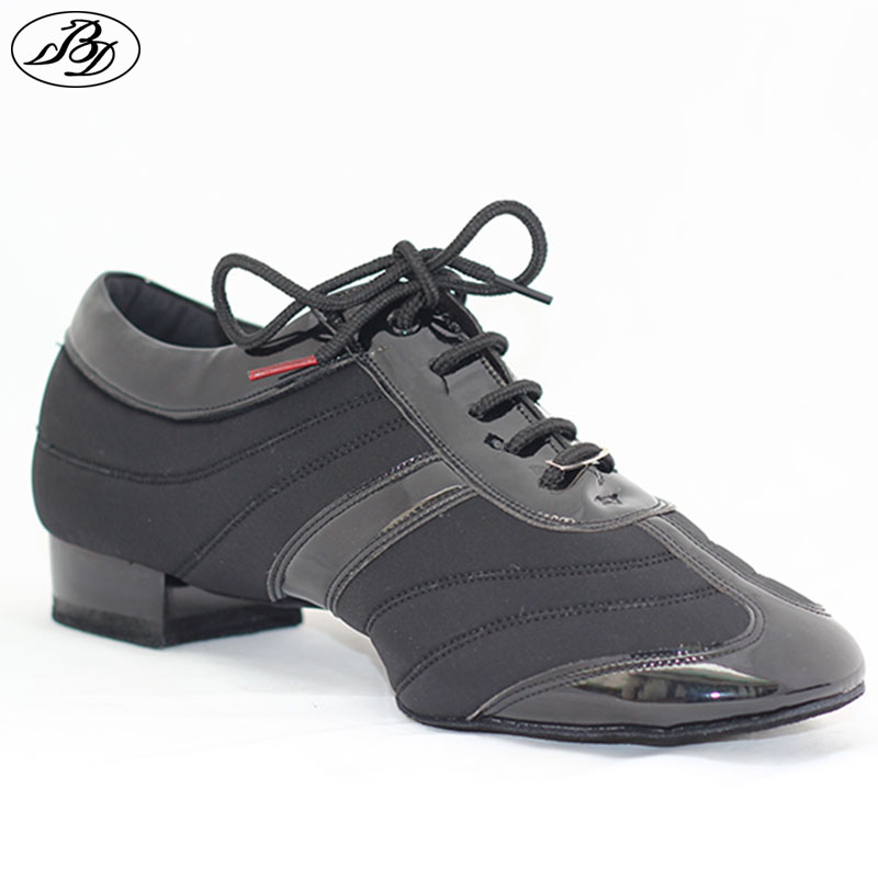 Ерлер Standard Dance Shoes BD 328H Dancesport Аяқ киім Ерлер Бильярд Дизайн Аяқ Split Sole Modern Shoes Stretch Spandex Patent