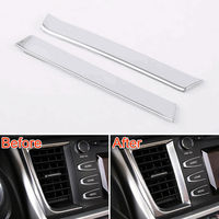 2pcs Car sticker Dash Central Console Air Vent Outlet car-styling Trim Strip Cover For 2015 Toyota Highlander Interior accessory