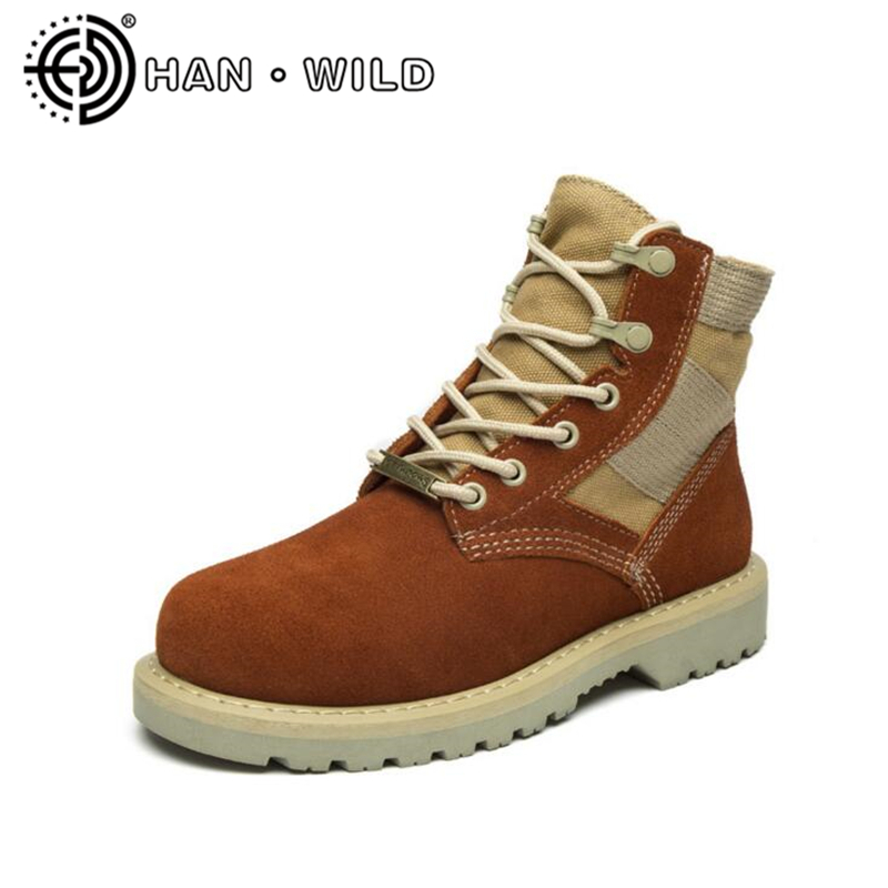 Genuine Leather Martin Boots Women Cow Suede Ankle Boots 2018 Fashion Women Motorcycle Boots Brand Shoes Unisex Size 35-44