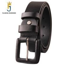 FAJARINA Unisex Quality Unique Retro Belts Jeans Geunine Leather Cover Alloy Buckle Cow Skin Belt  for Men Women N17FJ185