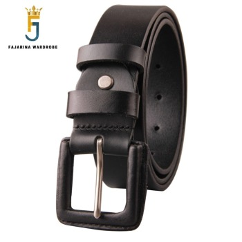 FAJARINA Unisex Quality Unique Retro Belts Jeans Geunine Leather Cover Alloy Buckle Cow Skin Belt  for Men Women N17FJ185
