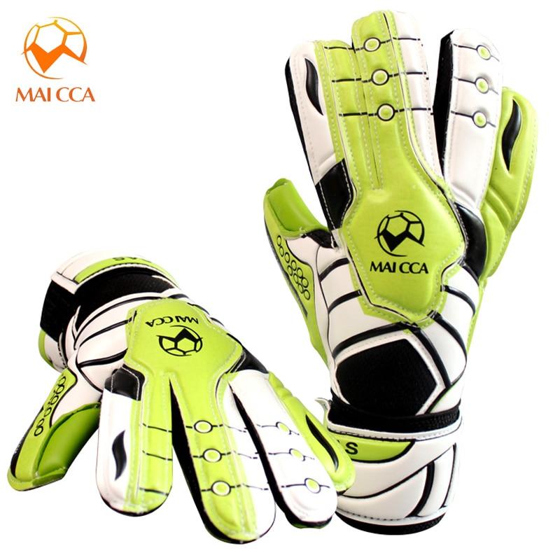 Professional Football Soccer Goalie Size 5 6 Child Latex Goalkeeper Gloves Sports