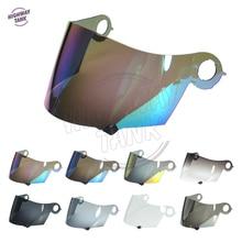 8 Colori Moto Visiera del Casco del Fronte Pieno Caso Scudo per SUOMY Spec 1R Spec-1R Estrema Apex W/Oro Iridium Blu Smoke Lens
