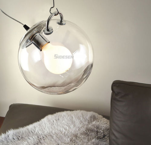 Modern Creative DIY Clear Glass Ball Pendant Light Fixture Home Deco Living Room Bubble E27 Bulb Pendant Lamp furnishings brief modern k9 crystal flower pendant light fixture european fashion home deco living room diy glass pendant lamp