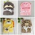 Primavera otoño invierno estilo animal, nuevo 2016, Manta de bebé, niñas y niños fleece manta, recién nacido bebé de dibujos animados juego de cama