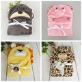 spring autumn winter animal style,new 2016,Baby Blanket,baby girls and boys fleece blanket,newborn baby cartoon bedding set