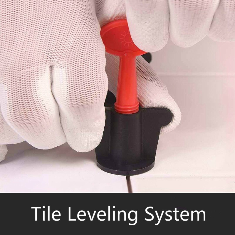 1set Reusable Tile Alignment Tile Leveling System Carrelage Clip Adjustable Locator Spacers Wall Level Wedges Hand Tools 50pcs