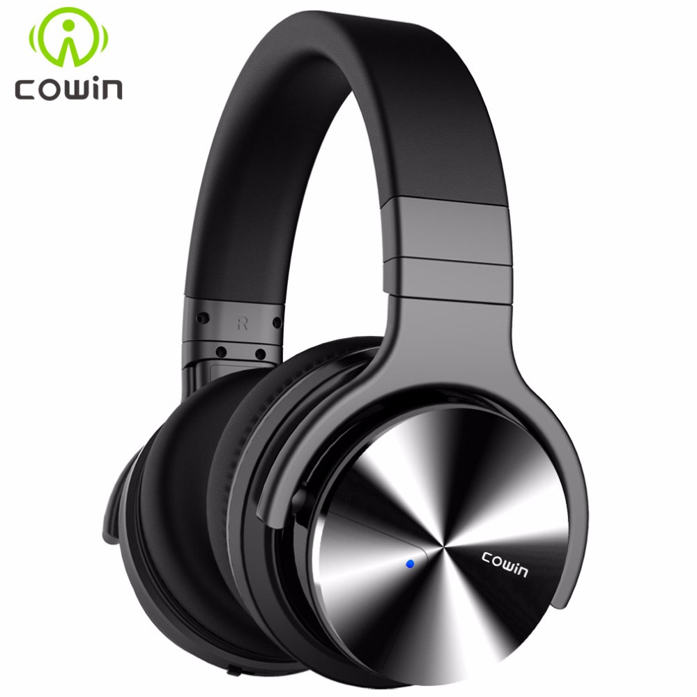 Cowin E7-PRO[upgraded] ANC Bluetooth Headphone Wireless Active Noise Cancelling Headphones headset with Microphone for phones samsung level u pro anc wireless bluetooth headphone mobile phone headsets sport earphone eo bg935c noise cancelling headphones