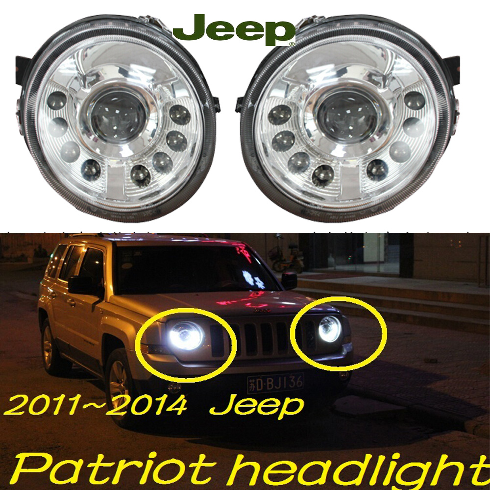 car-styling!Patriot headlight,2011~2014,Free ship!chrome,Patriot fog light,chrome,LED,2ps+2pcs Aozoom Ballast,Compass,Patriot аккумуляторная отвертка patriot ps 148