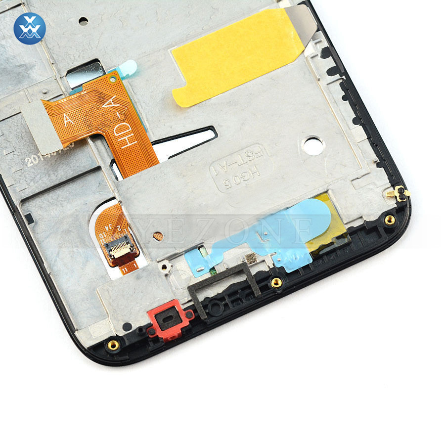 Huawei Ascend G7 Black Touch Digitizer Glass+Lcd Display Assembly with Frame-4