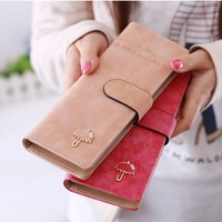 Free Shipping Retail Wholesale Hasp 55 Cards Solid Color Pu Leather Hasp Women Female Business Id