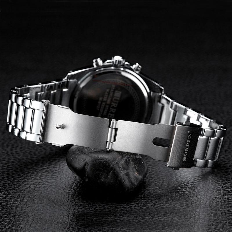 CURREN Heren Horloges Topmerk Luxe Militaire Horloges Staal Heren - Herenhorloges - Foto 4