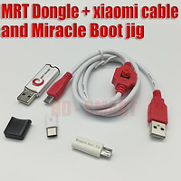 Original MRT Dongle Xiaomi9008 Cable And Miracle Boot Jig For Account Or Remove Password Imei Repair