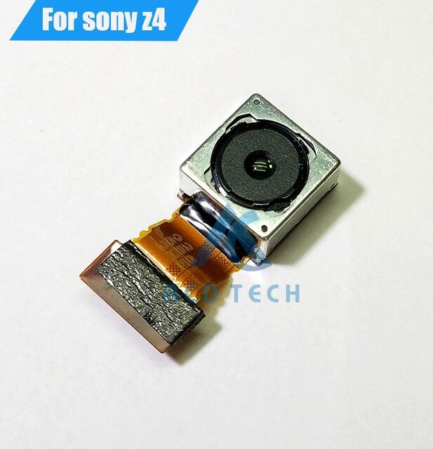 소니 z4 z3 + 듀얼 e6553 e6533 빅 카메라 플렉스 케이블 백 카메라 교체 부품 피난처에 대한 원래의 후면 메인 카메라