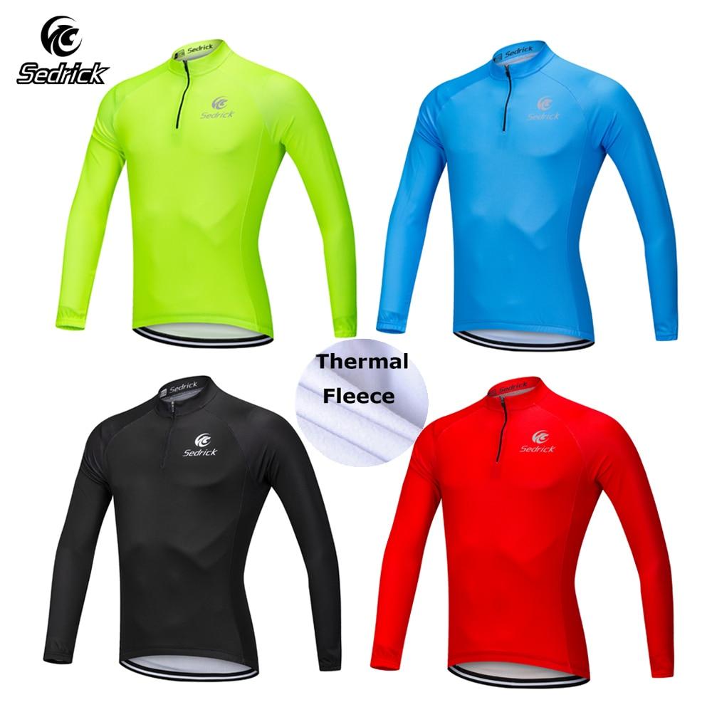 New Team Bike Winter Cycling Fleece Jackets Men/'s Road Cycle Thermal Jersey Warm