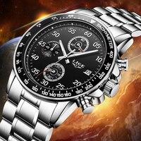 ליגע masculino Relogio מותג יוקרה גברים שעונים שישה פין צבאי ספורט גברים שעון קוורץ עמיד למים שעון עור שעון יד אדם