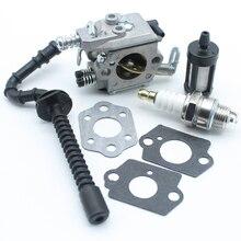 Прокладка для карбюратора, топливный шланг, трубка, фильтр, Свеча зажигания для STIHL MS250 MS230 MS210 025 023 021, запчасти для бензопилы