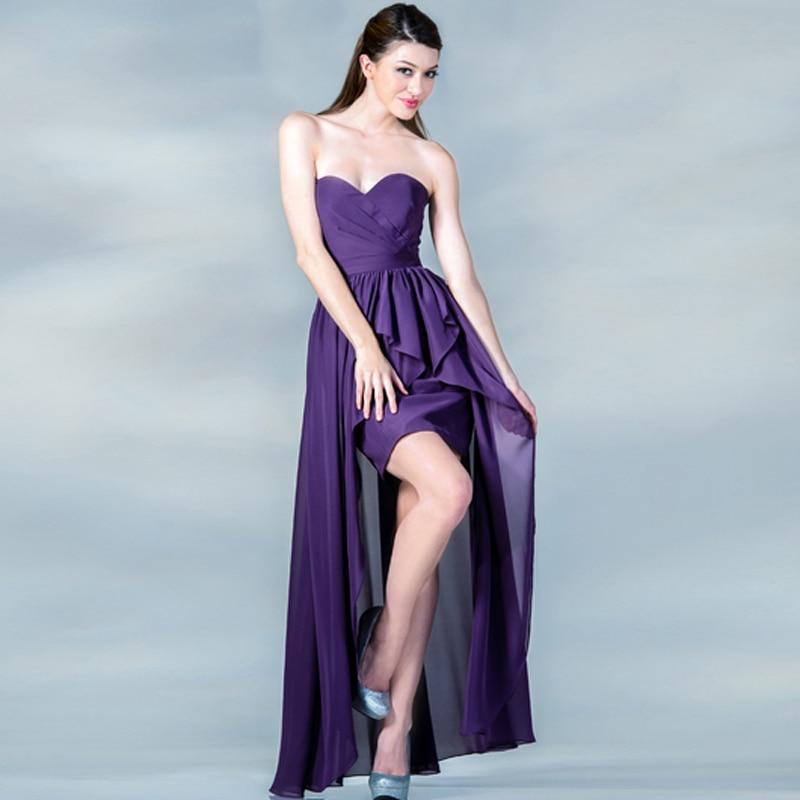 2016 Hot cóctel vestidos de quinceañera hombro Plisado Trasero Largo ...
