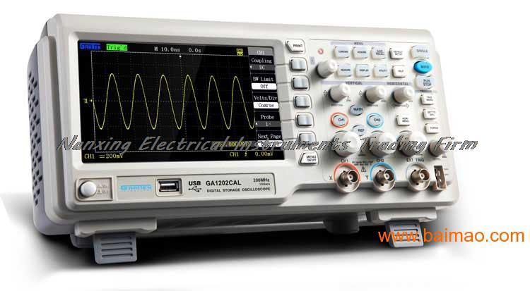 Быстрое прибытие ATTEN GA1202CAM цифровой осциллограф 2 Каналы 1GSa/s USB 7 ''TFT ЖК дисплей AC 110 240 В