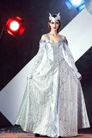 Ice Queen Cosplay Costumes Egypt Cleopatra Cosplay Sexy Hallween Greek Goddess Snow Princess Silver Dress Disfraces