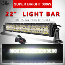цена на CO LIGHT 22 inch 7D LED Work Light Bar 390W 3-Rows Combo Led Light Bar Offroad for Tractors Boat 4WD 4x4 Trucks SUV ATV 12V 24V