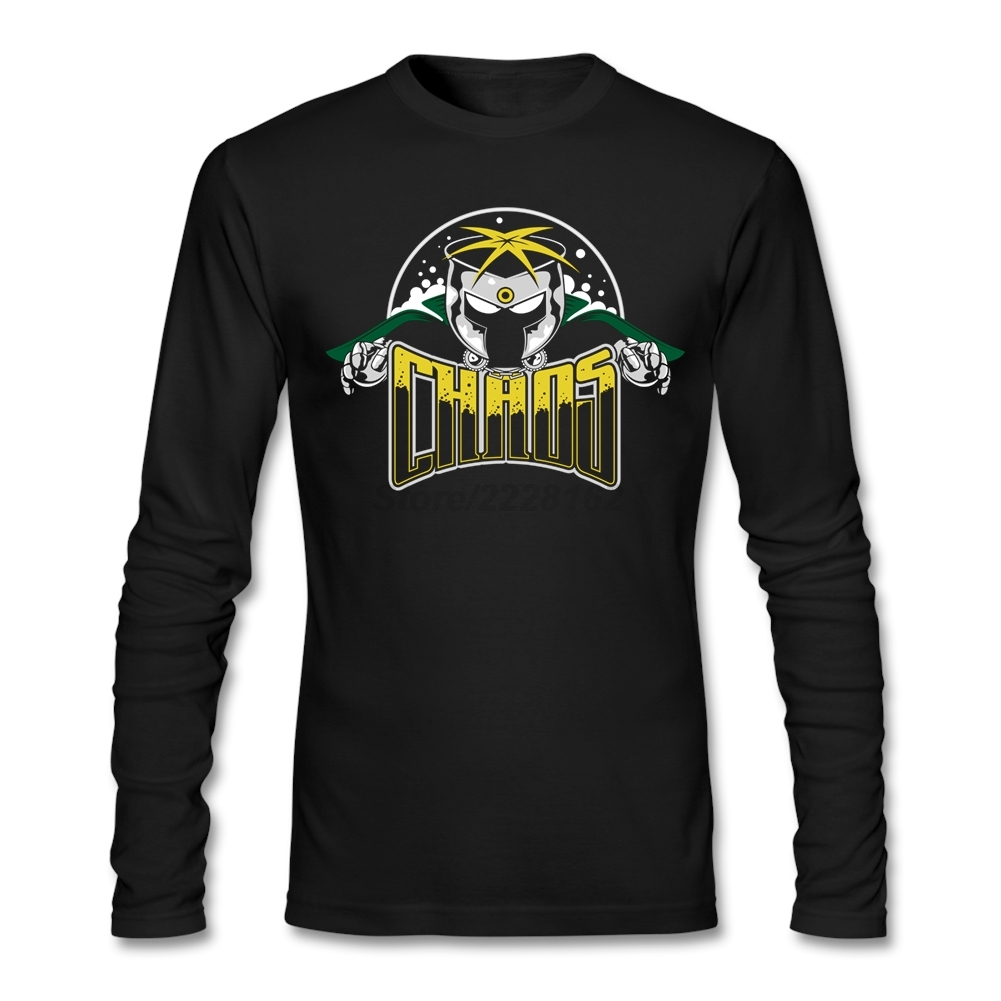 T-shirt logo design - Popular Man Chaos T Shirts Funky Original Shirt Logo Design Tshirt Xs 3xl Long