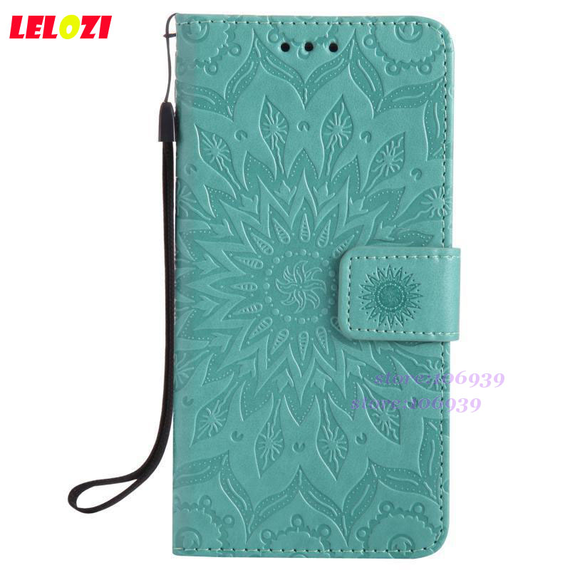 LELOZI Phone Telefono Wallets Retro PU Leather TPU Case Funda Caso For Huawei Honor 7i Honor7i Red Green Pink Sun Flower Flower