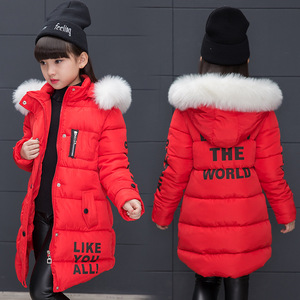 Image 2 - Girl Winter Jacket Childrens Thicken Jacket Kids Cotton padded Clothes Winter Jacket Girl Park Lively Winter Hoodie Coat Girls