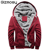 Sweatshirt Men 2018 Autumn Winter Warm Thick Solid Casual Tracksuit Men S Sweatshirts Hooded Plus Size