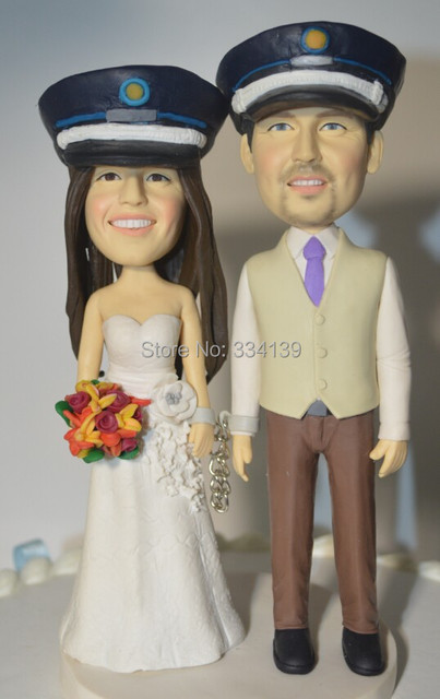 custom Police style wedding cake topper polymer clay figure topper ...