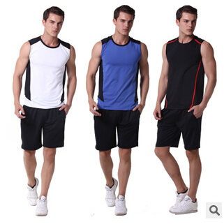 New Road Iraqi Vatican Workout clothes Men s Fitness vest fitness  sportswear summer models shorts suit d40030b1321c6