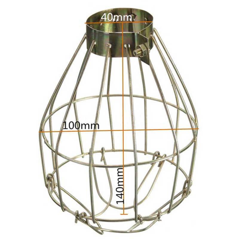 Лампа охватывает Винтаж Сталь E27 лампы гвардии зажим на металл ламповая клетка Ретро лампа для света промышленные подвесные светильники оттенков Фонари
