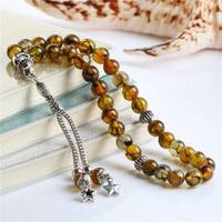 BFQ 100 Original Natural Agates Stone Islamic Prayer Beads Rosary 1pc Lot Car Hanging Muslim Gift