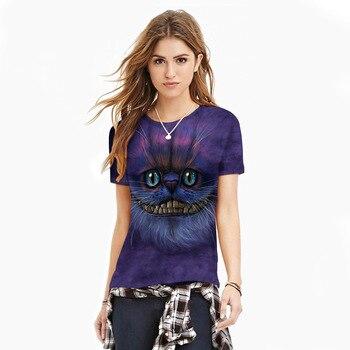 Cheshire Cat T Shirt for Women Girl Kid Tshirt Top Streetwear Kawaii Cute