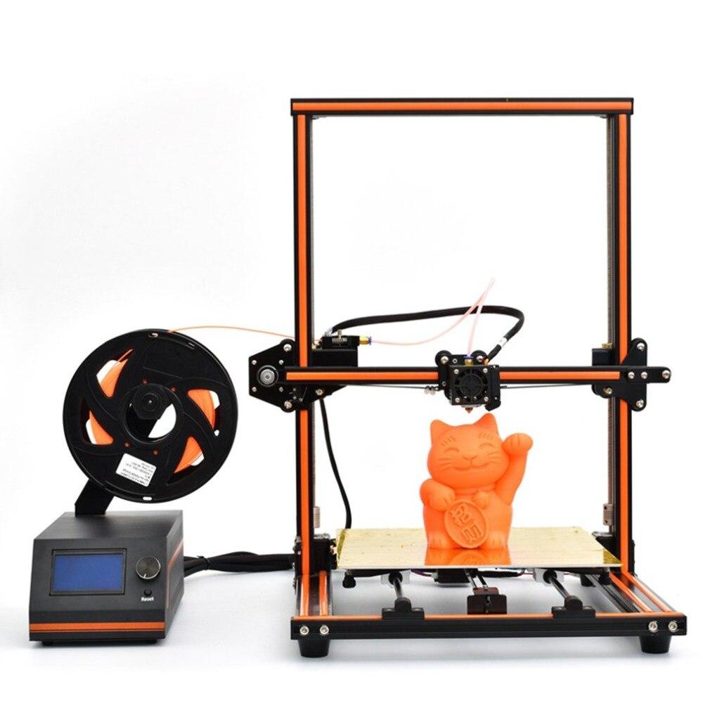 E12 3d imprimante cadre en aluminium haute précision bureau 3d imprimante Kits Reprap kit de bricolage mis hors ligne impression gratuite 10 m Filament US