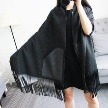 [Sour Lemon] Brand Women Blanket Poncho Scarf Prorsum Cashmere Wool Scarf Cape Winter Bufanda Manta Tartan Zigzag Twill Scarves