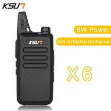 (6 PCS)KSUN X-63TFSI Ham Two Way Radio walkie talkie Dual-Band Transceiver BUXUN X-63(Black)