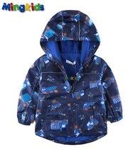 Mingkids High quality windbreaker jacket for boys waterproof with fleece lining outdoor raincoat export Europe Autumn Spring