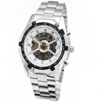 2017 Mens Watches Top Brand Luxury Winner Fashion Skeleton Clock Men Sport Watch Automatic Mechanical Watches