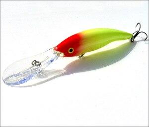 Image 2 - 2 adet uzun dil zoka yapay balık 14g 13.5cm sert yem yüzen Crankbait Pesca Topwater Wobblers balık olta takımı
