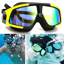 3cc89775c8d Polarized Swimming Glasses Anti-Fog Large Frame Silicone Swim Goggles mens  Waterproof Swim Diving Fack