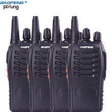 4 Pcs/lot Baofeng BF-888S Walkie Talkie 5W Handheld Pofung bf 888s UHF 5W 400-470MHz 16CH Two Way Portable Scan Monitor Ham CB