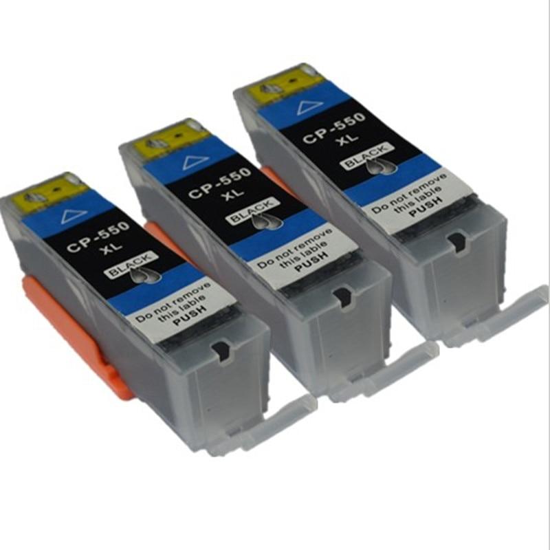3BK Ink cartridge PGI550 PGI-550 for Canon PIXMA IP7250 MG6350 MG5450 MX 925 MG7150 MG6450 MG 5550 MG7150