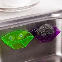 Сливная эстакада губкой полезные мыла присоски полка раковина кухня двойной инструмент