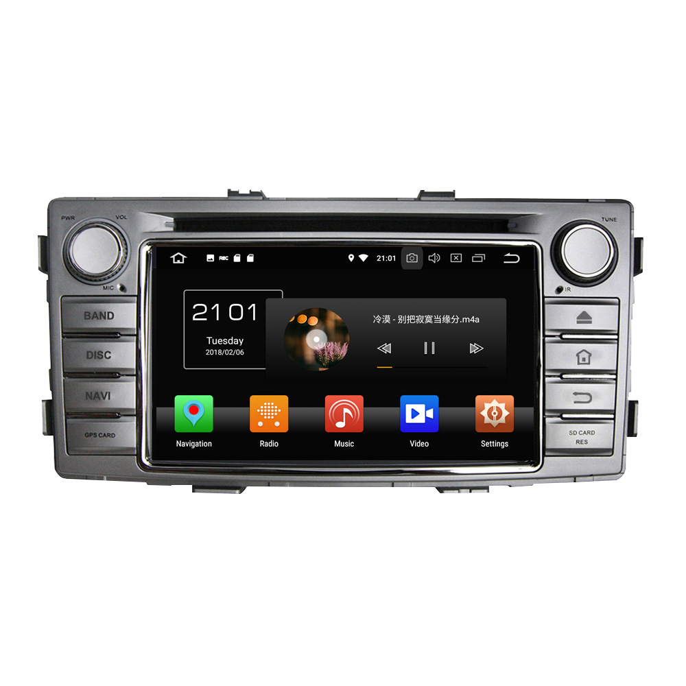 KLYDE 6.2 1 Din Android 8.0 Car Multimedia Player 8 Core For Toyota Hilux 2012 Car DVD Player Car Stereo Audio image