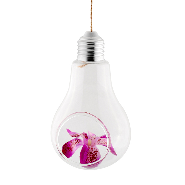 Light Bulb Shape Glass Hanging Hydroponic Plant Container Wedding Wall Deco Home Decoration Flowers Hanging Container 2