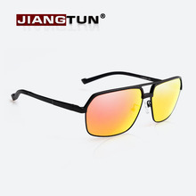 JIANGTUN Aluminum Magnesium Polarized Sunglasses Men Driving Sun Glasses Oculos De Sol Masculino Fashion Eyewears Accessories