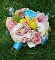 Ручной Новые Свадебные Принадлежности Букет Цветок Цветочные Свадебные Невесты Букеты Искусственные Розы Цветы Nice Невеста, Холдинг Цветок